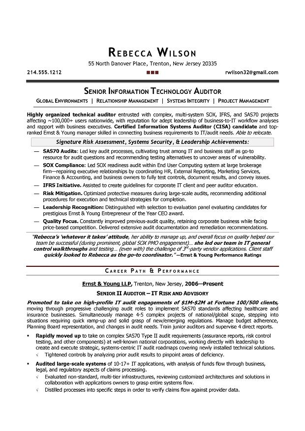 Audit Senior Resume. 24 cover letter template for audit operation ...