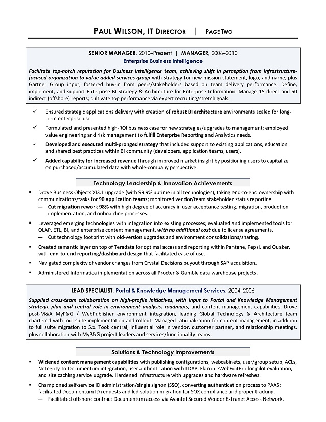 director sample resume sample it resume it resume writing services