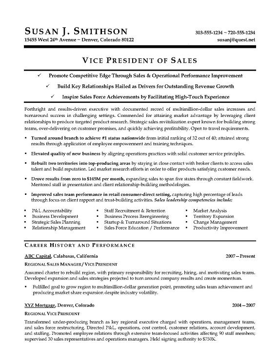 vice president research development resume