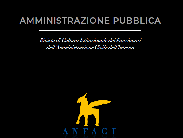 """Rivista """"Amministrazione Pubblica"""" N° 102-2019 e N° 103-2020"""