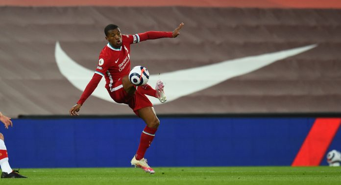 LIVERPOOL, ENGLAND - MAY 08: (THE SUN OUT,THE SUN ON SUNDAY OUT) Georginio Wijnaldum of Liverpool during the Premier League match between Liverpool and Southampton at Anfield on May 08, 2021 in Liverpool, England.