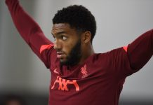 UNSPECIFIED, AUSTRIA - JULY 16: Joe Gomez of Liverpool during a training session on July 16, 2021 in UNSPECIFIED, Austria. v