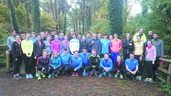 UL Athletics Club members on their recent winter training camp in Wexford