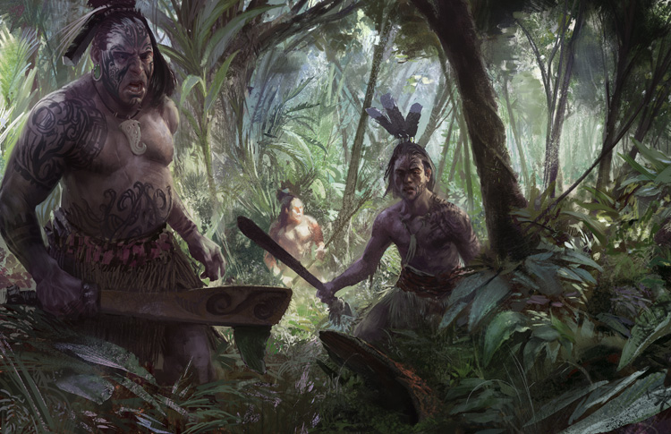 Guerreros maoríes
