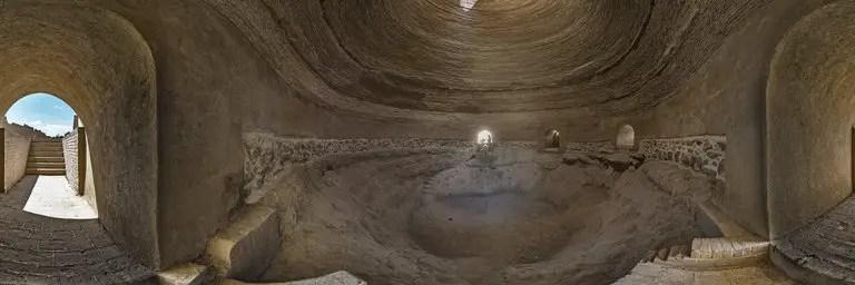 Interior de un Yakhchal