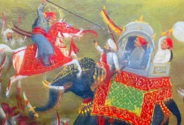 Batalla de Haldighati en el 1576