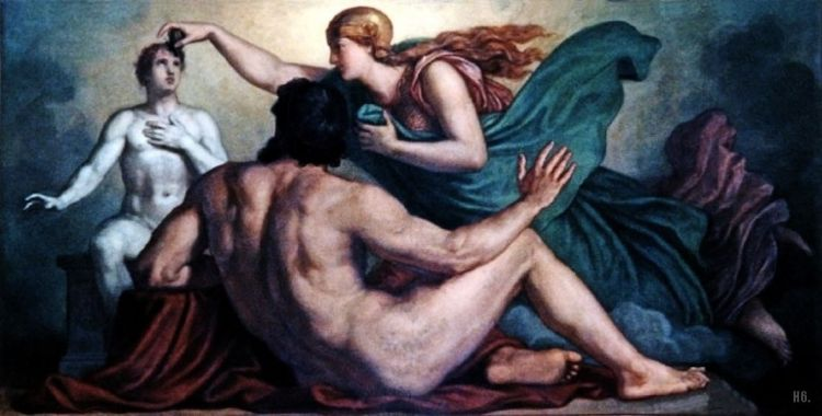 Atenea dotando a la humanidad con un alma