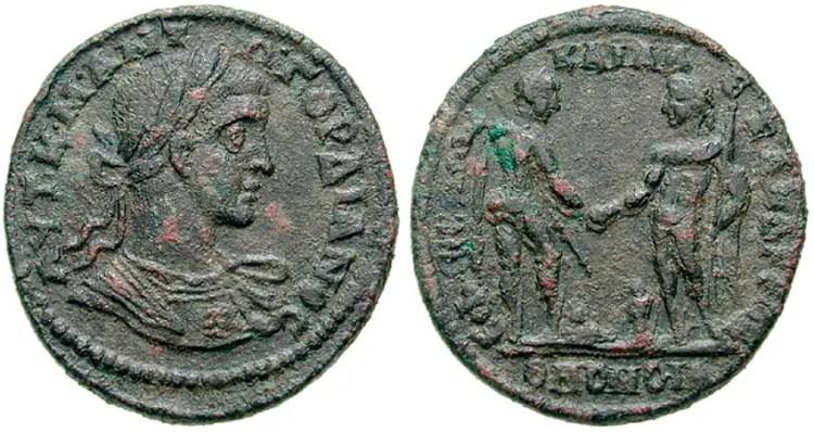 Moneda Helénica en conmemoración del pacto de Alejandría