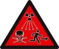 Símbolo de peligro radiactivo
