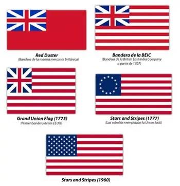 Banderas de la BEIC y USA