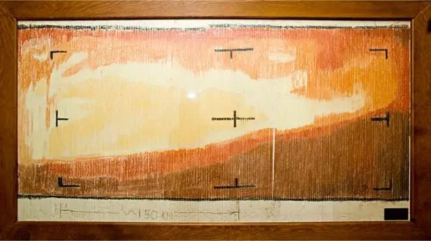 Dibujo de marte a partir de las imágenes enviadas por la Mariner 4