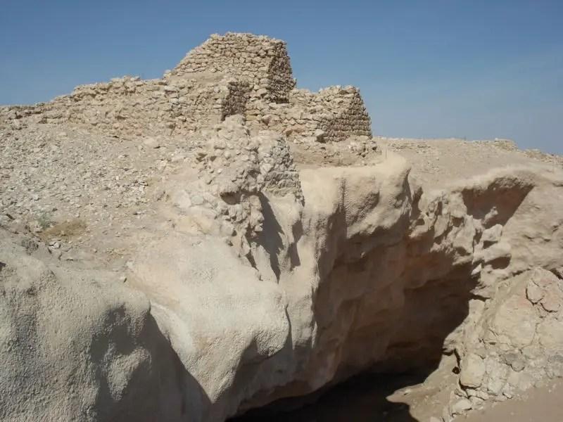 Restos de la ciudad de Ubar.