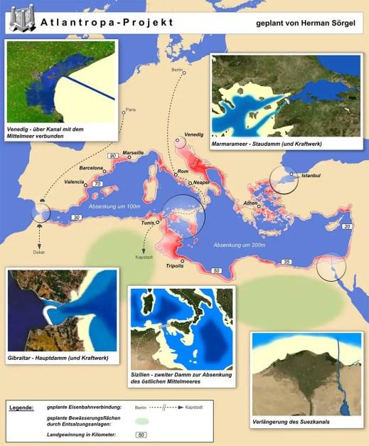 Infografíia del Proyecto Atlantropa.
