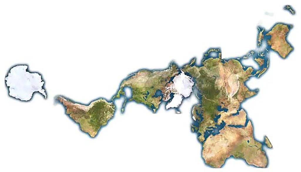El mapa Dymaxion.
