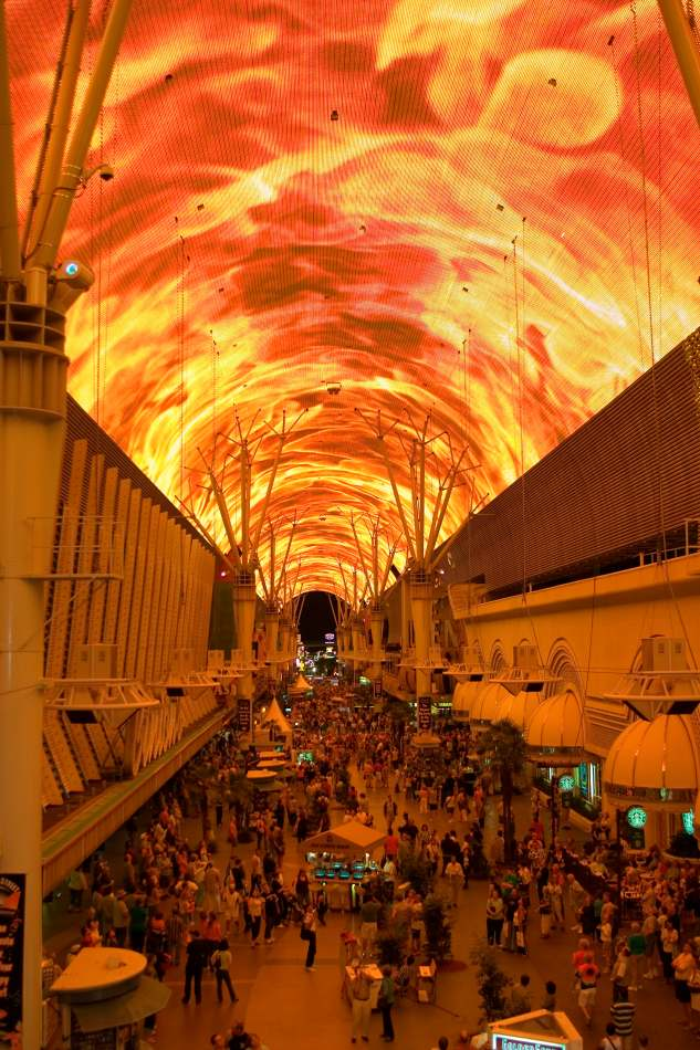 Detalle de los techos de Freemont street, Las Vegas.