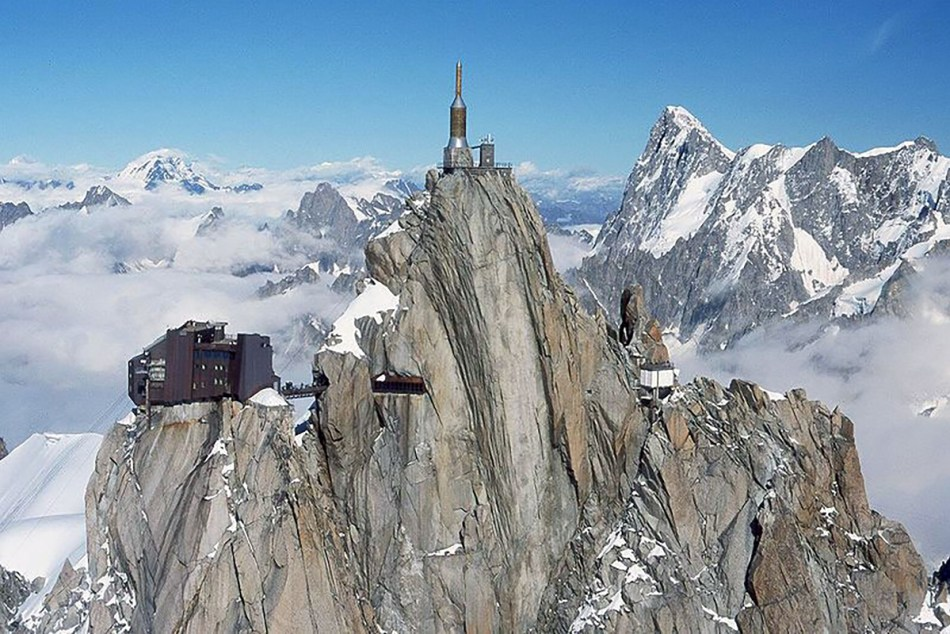 Picos y riscos del Aiguille du Midi.