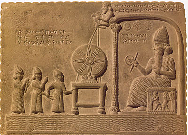 Fotografía de una tabla de arcilla babilónica.