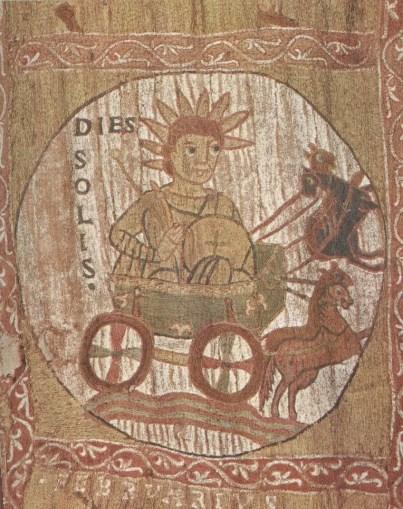 Ilustración medieval del dios Dies Solis.
