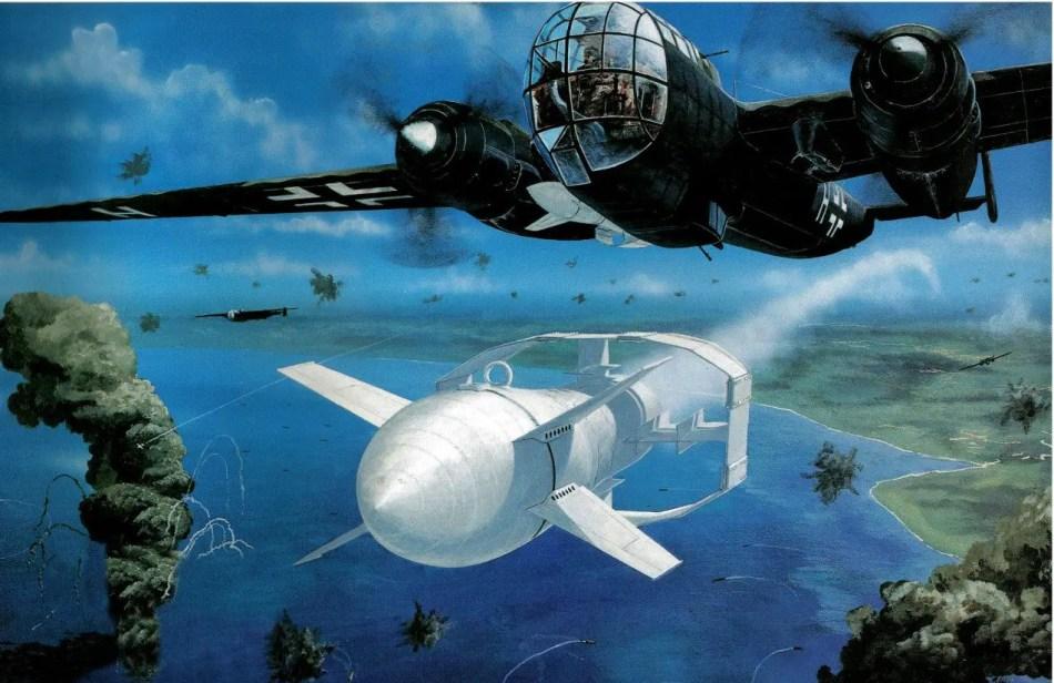 Ilustración de un misil Fritz-X.