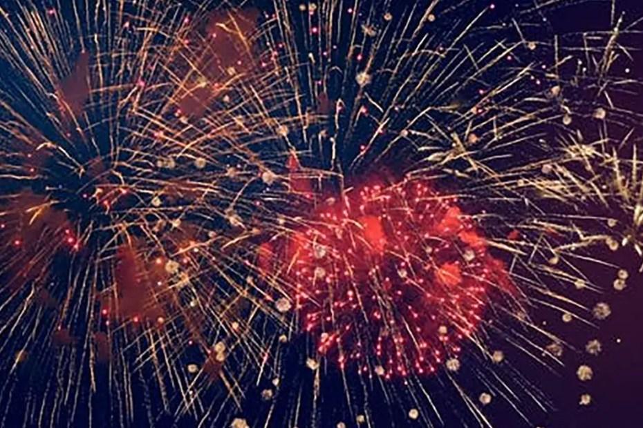 Fotografía de fuegos artificiales.