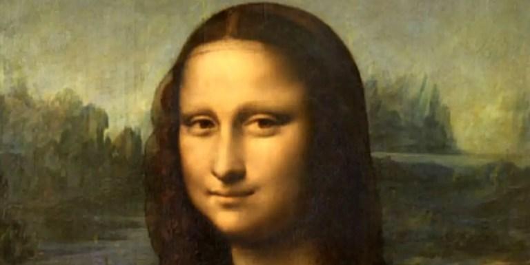Detalle del rostro de la Mona Lisa.