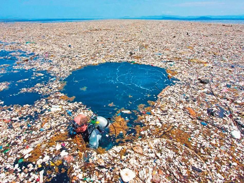 Fotografía del gran parche de basura del pacífico.