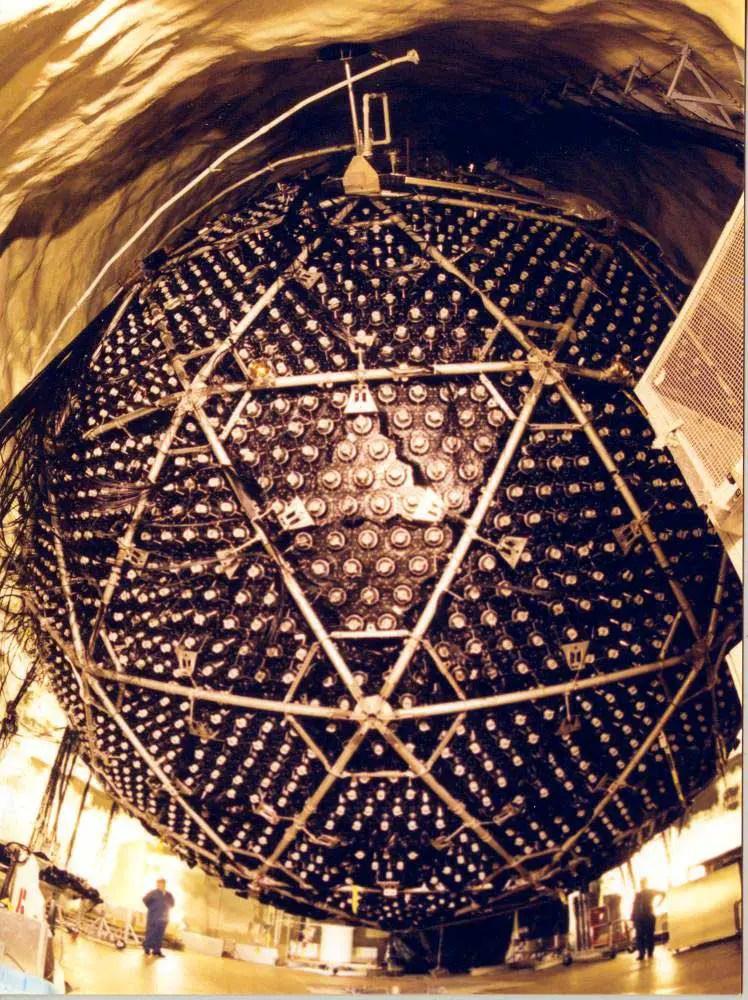 Fotografía del detector principal del Observatorio de Sudbury.