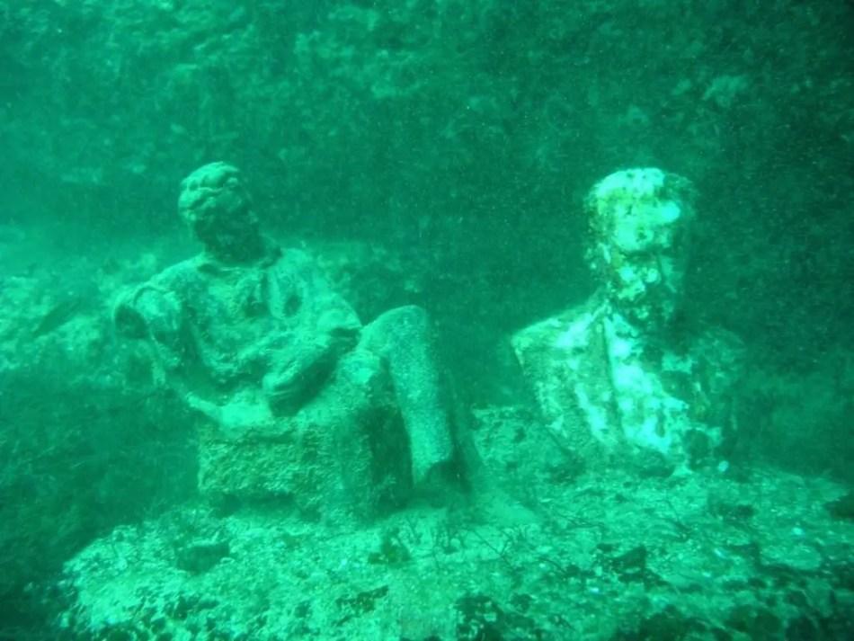 Estatuas del museo de Tarkhankut