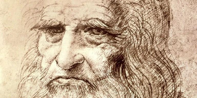 Autorretrado de Leonardo da Vinci.
