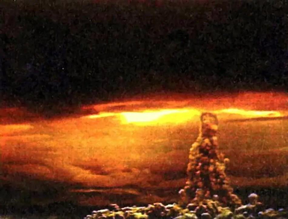 Fotografía de la tsar bomba.