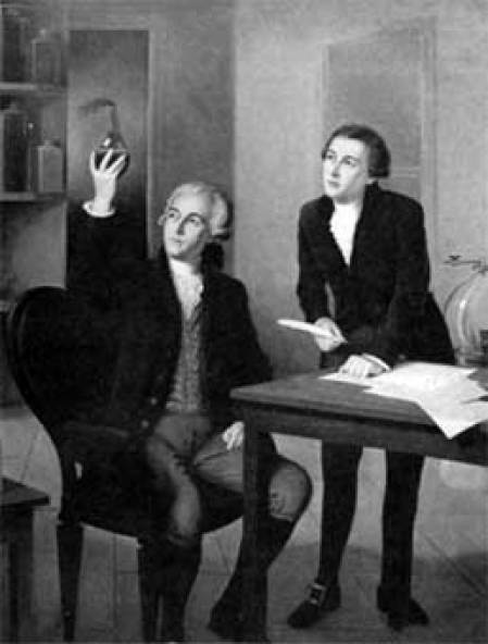 Ilustración de Lavoisier.