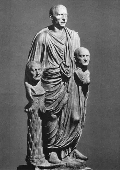 Estatua Togatus Barberini, y el significado de la frase se le fue el humo a la cabeza.