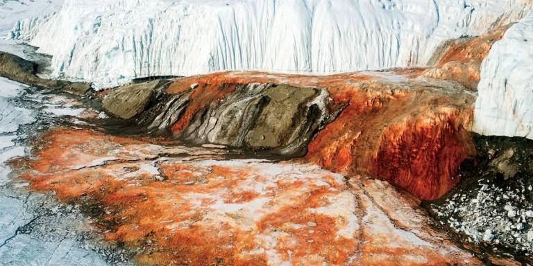 Las impresionantes cascadas de sangre de la Antártida