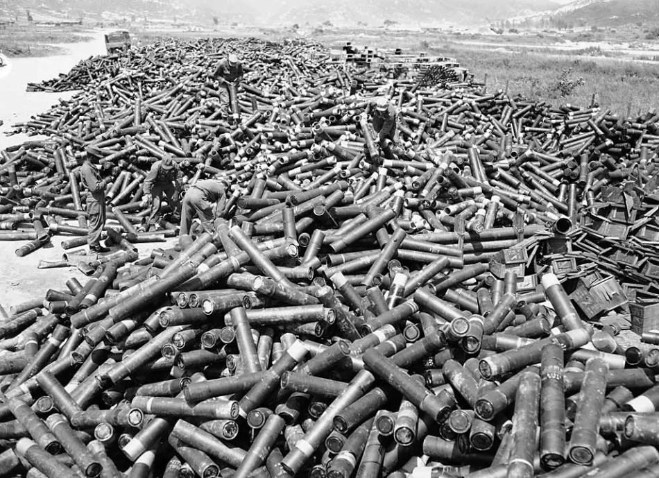 Fotografía de soldados en la guerra de Corea.