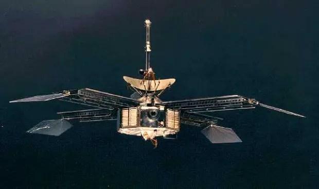 Fotografía de la sonda Mariner 4.