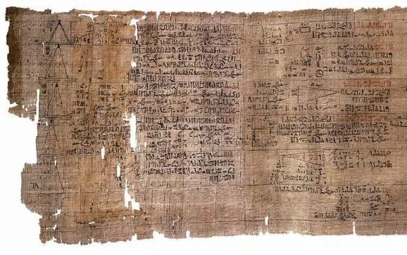 Papiro de Rhind, el texto matemático más antiguo.