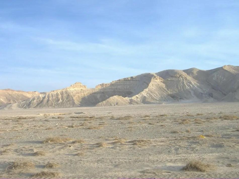 Fotografía de las tierras de Wadi Hammamat.