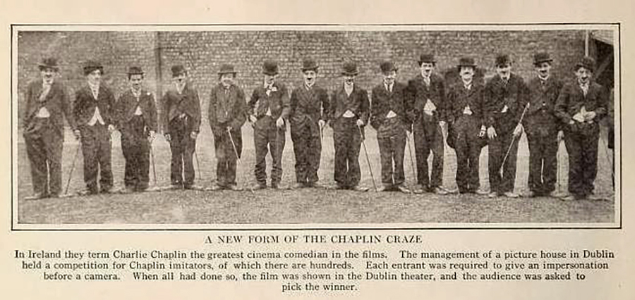 Fotografía de un grupo de Chaplinistas.