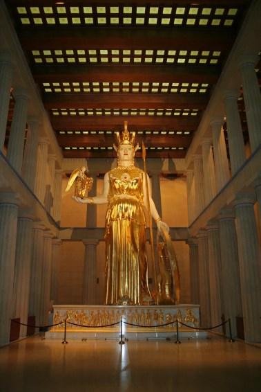 Fotografía de la estatua de Atena.