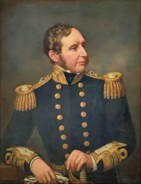 Pintura del capitán del HMS Beagle.