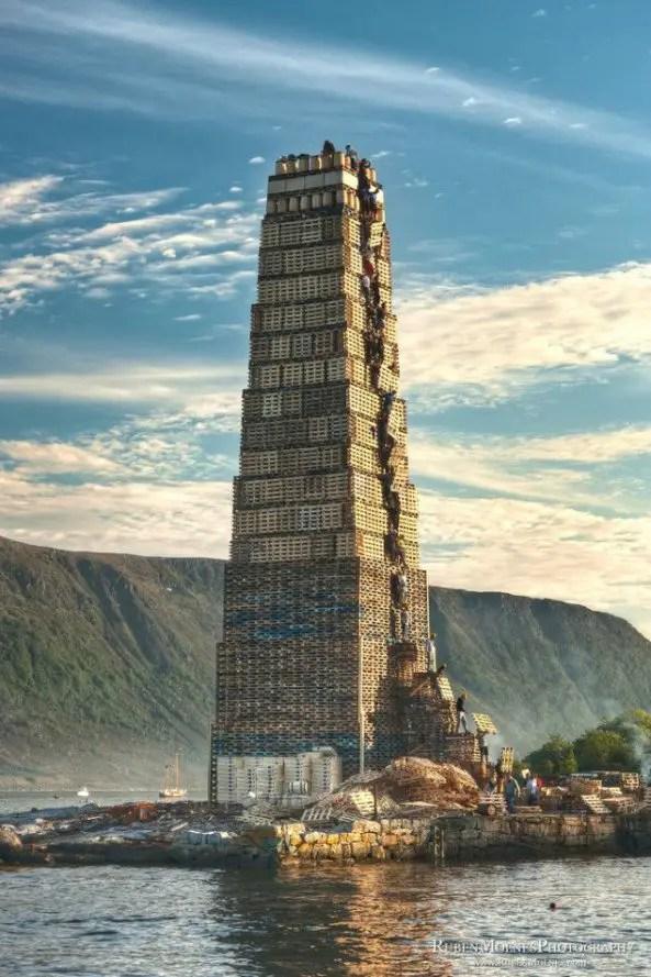Fotografía de la Aalesund en Escandinavia.