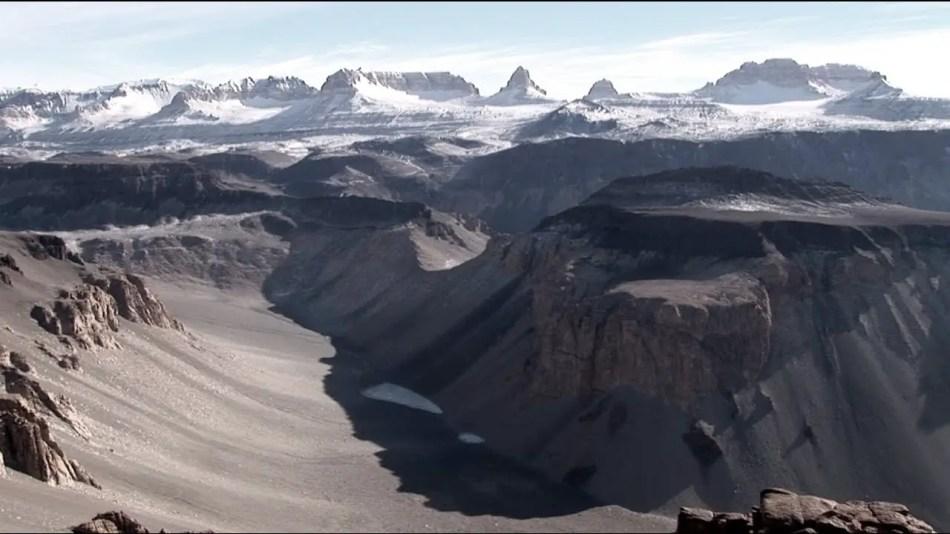Fotografía de los Valles secos, el lugar de la tierra con la sequía más larga del mundo.