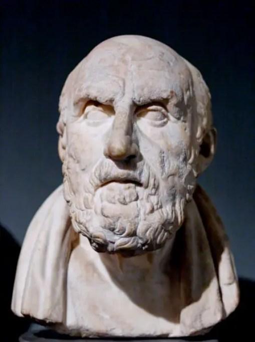 Fotografía de un busto de Crispo de Soli.