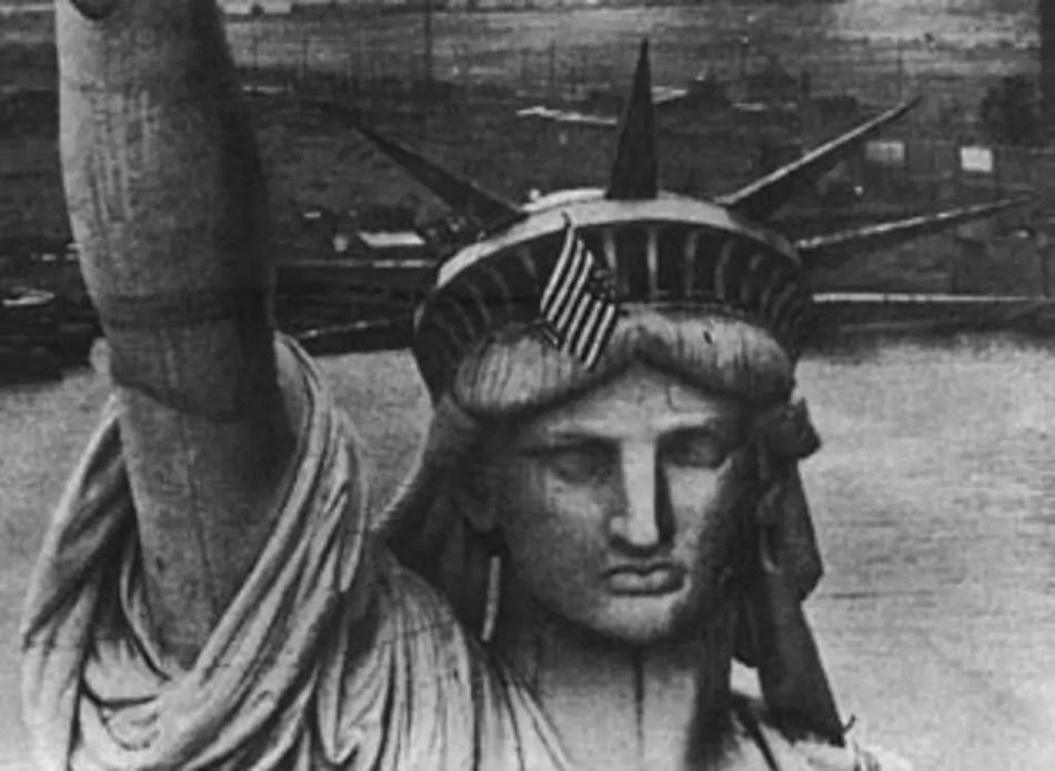 Fotografía de la estatua de la libertad.