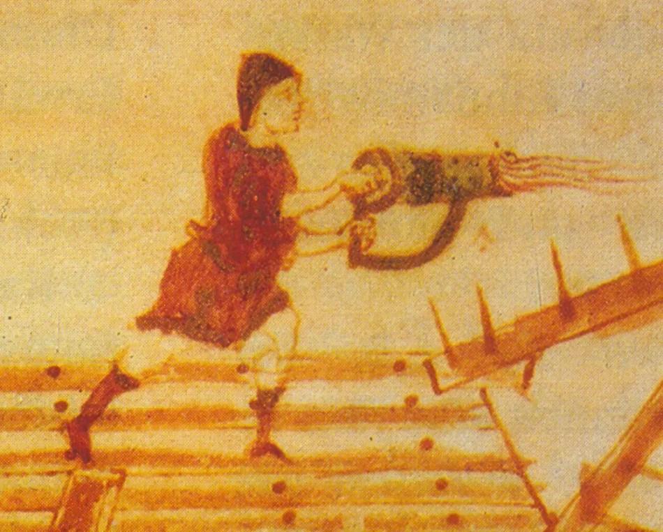 Ilustracion del fuego griego
