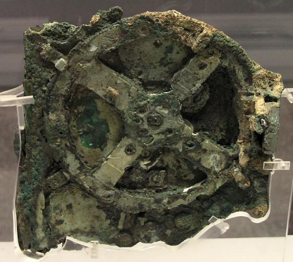 Fotografía del Mecanismo Anticitera.