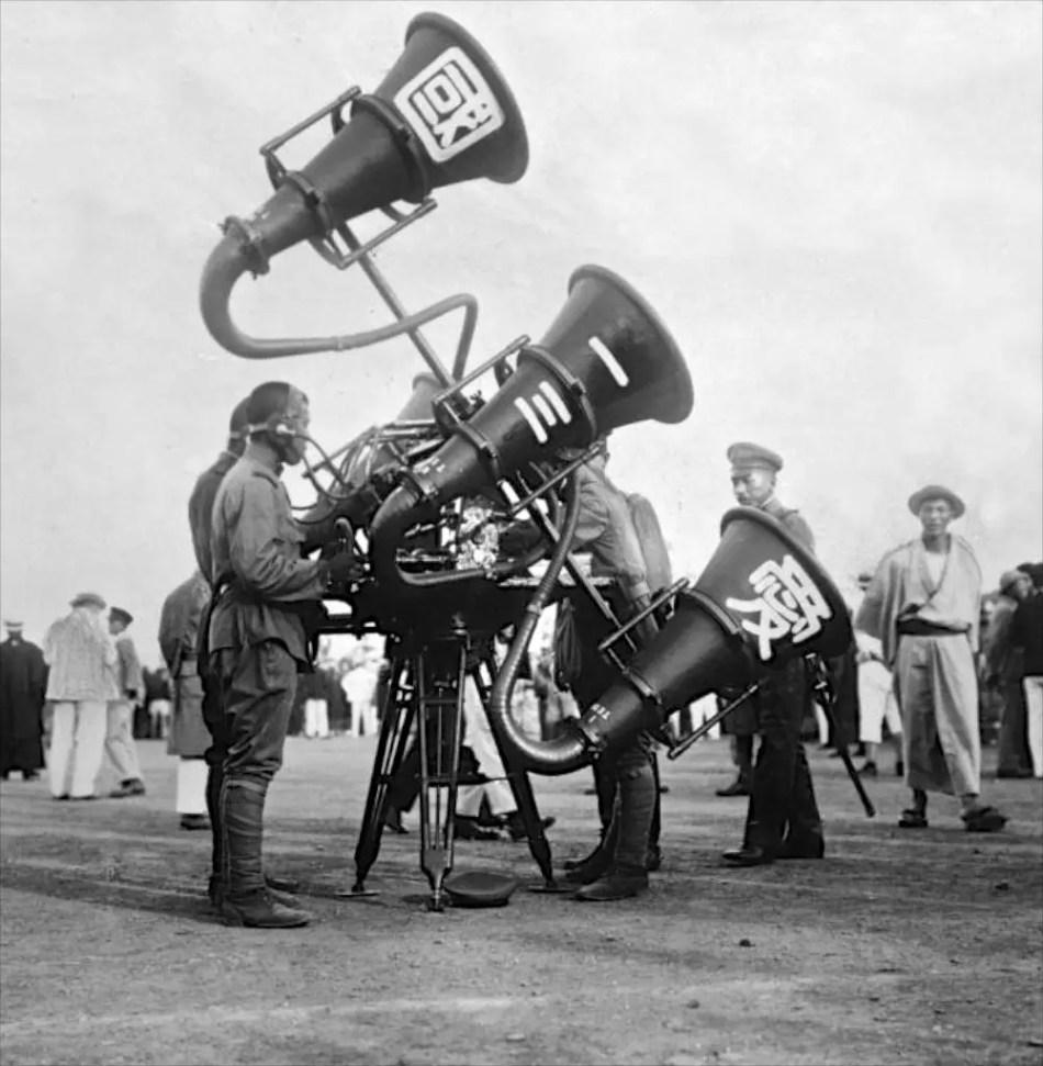 Fotografía de un trombón de guerra,