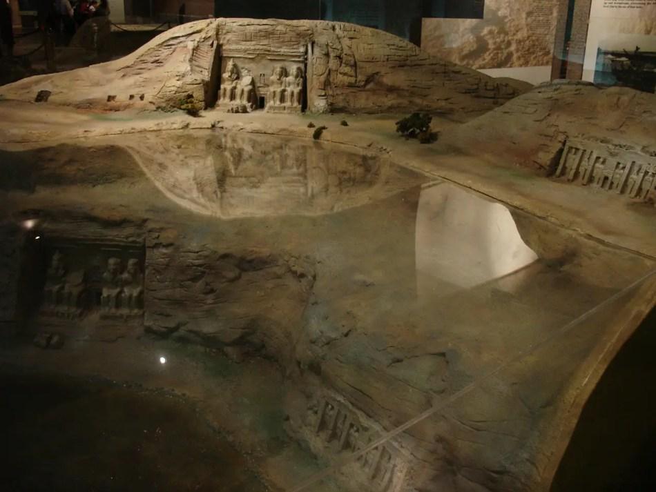 Maqueta en el Museo de reliquias Nubias de Ansuán.
