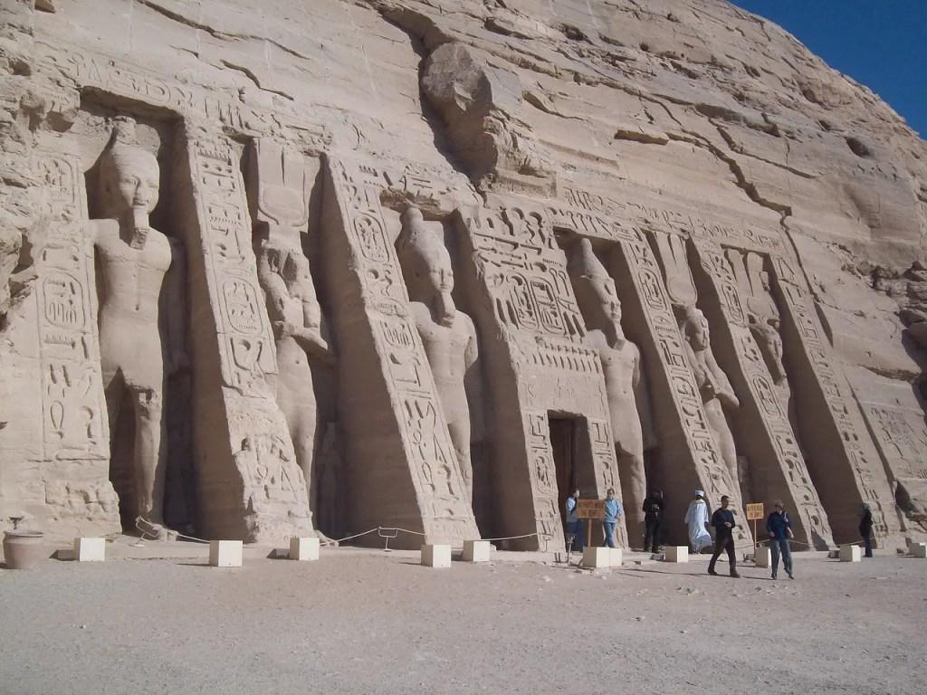 Fotografía de la mudanza de Abu Simbel.