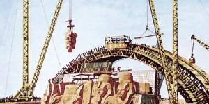 Ilustración de la mudanza de Abu Simbel.